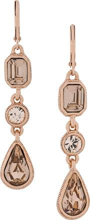 1990s Vintage Givenchy Drop Rose Gold Earrings