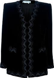 Embroidered Jacket Women Cotton 42, Women's, Black