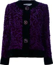 Embroidered Jacket Women Silk 42, Women's, Pinkpurple