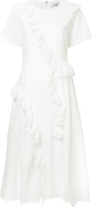 Broderie Anglaise Flared Midi Dress