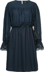 Broderie Anglaise Shirred Dress