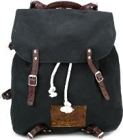 Canvas Backpack Men Cottonleather One Size, Black