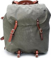Canvas Backpack Men Cottonleather One Size, Green