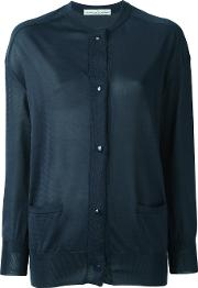 Classic Cardigan Women Polyester L, Blue