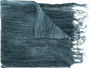 Pleated Scarf Women Rayon One Size, Blue