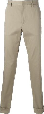 Bee Embroidered Classic Chinos Men Cottonspandexelastane 52, Nudeneutrals