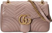 Beige Gg Marmont Matelasse Shoulder Bag