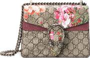 Dionysus Gg Blooms Mini Bag Women Suedecanvasmetal One Size, Women's, Nudeneutrals