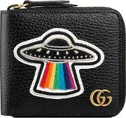 Leather Coin Wallet With Ufo