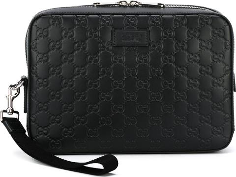 03cefab5d60 gucci Signature Clutch Men Leather One Size