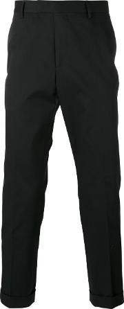 Slim Fit Chino Trousers Men Cottonspandexelastaneviscose 50, Black