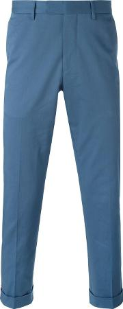 Slim Fit Chino Trousers Men Cottonspandexelastaneviscose 52, Blue