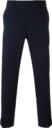 Slim Fit Chino Trousers Men Cottonspandexelastaneviscose 54, Blue