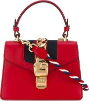 Sylvie Leather Mini Bag Women Cottonleathersuedebrass One Size, Red