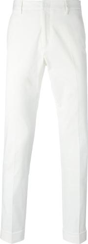 Web Embroidered Bee Chinos Men Cottonspandexelastane 50, White