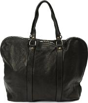 Guidi Zipped Tote Men Horse Leather One Size, Black