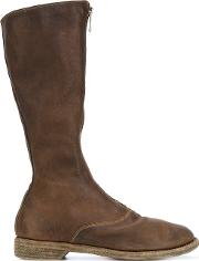 Zipped Front Boots Women Leather 39, Green
