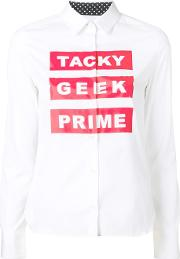 'tacky Geek Prime' Shirt Women Cotton 34, Women's, White
