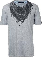 Bandana Neck Print T Shirt Men Cotton 1, Grey