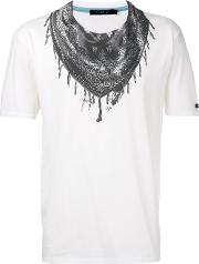 Bandana Neck Print T Shirt Men Cotton 3, White