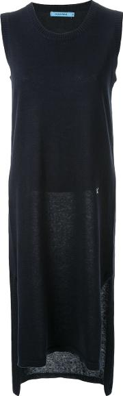 Contrast Embroidered Detail Fitted Knitted Dress