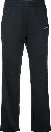 Cropped Trousers Women Polyester 34, Black