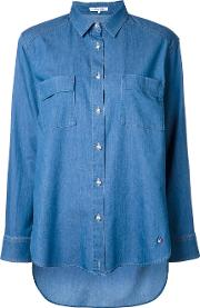 Denim Shirt Women Cottonnyloncupro 36, Blue