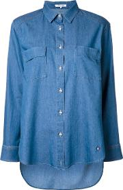 Denim Shirt Women Cottonnyloncupro 36, Women's, Blue