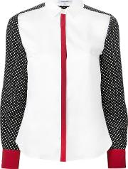 Guild Prime Dotted Print Shirt Women Polyester 36, White