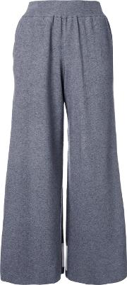 High Waisted Fleece Pants Women Rayon 36, Grey