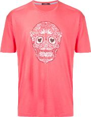 Skull Graphic T Shirt Men Cottonrayon 3, Pinkpurple