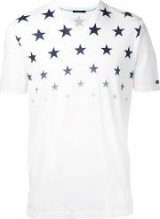Stars Print T Shirt Men Cotton 1, White