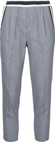 Stripe Panelled Cropped Trousers