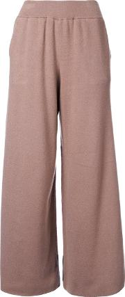 Wide Leg Trousers Women Rayon 36, Brown