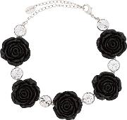Rose And Rhinestone Choker