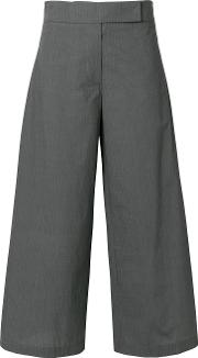 Flared Cropped Trousers