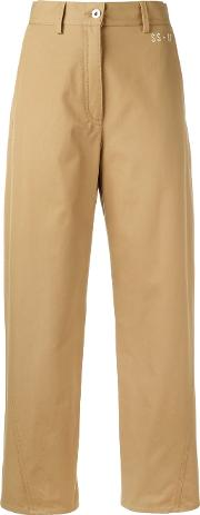Straight Trousers Women Cotton 46, Nudeneutrals
