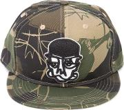 Camouflage Print Face Cap Unisex Cotton One Size, Green