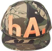 Camouflage Print Hat Unisex Cotton One Size, Green