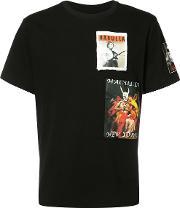 Logo Print T Shirt Men Cotton Xxxl, Black