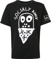 Socially Awky T Shirt Men Cotton Xxl, Black