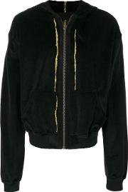 Haider Ackermann Classic Bomber Jacket Men Cottoncalf Leathervirgin Wool S, Black