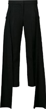 Strip Detail Cropped Trousers