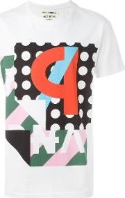 'ps' Print T Shirt Men Cotton L, White