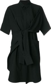 Shirt Dress With Sleeve Tie