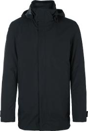 Hooded Coat Men Feather Downpolyamide 54, Black