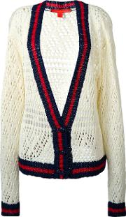 V Neck Corporate Cardigan Women Cotton M, Women's, White
