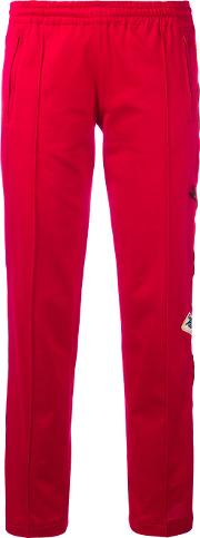 Side Patch Track Pants Women Cotton 44, Red