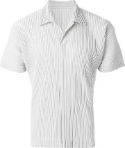 Homme Plisse Issey Miyake Ribbed Effect Polo Shirt