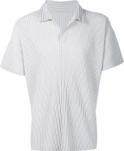 Pleated Polo Shirt Men Recycled Polyester 4, Grey